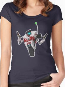 Dr. Zed's Claptrap Sticker Women's Fitted Scoop T-Shirt