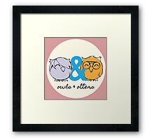 Owls & Otters - ( O&O Emblem ) Framed Print