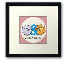 Owls & Otters - ( O&O Emblem ) Framed Print