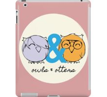 Owls & Otters - ( O&O Emblem ) iPad Case/Skin