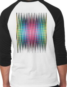 High Frequency Psychedelic Rainbow Color Waves Men's Baseball ¾ T-Shirt