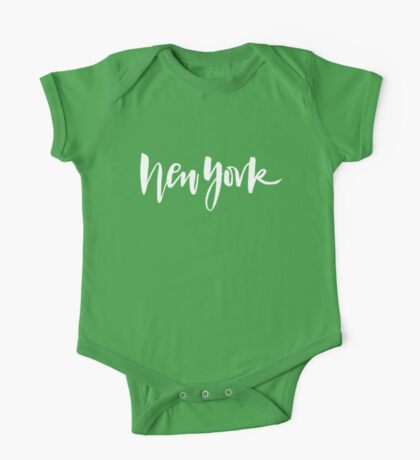 New York Brush Lettering One Piece - Short Sleeve