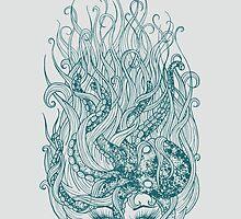 Beautiful Mermaid with Octopus by Rachel  Weaver