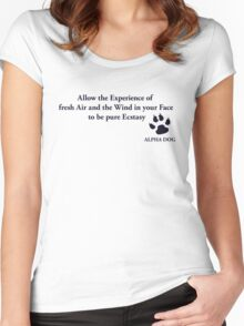 Alpha Dog #2 - Allow the Experience.... Women's Fitted Scoop T-Shirt