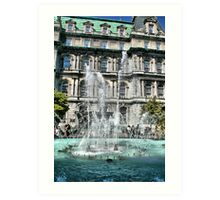 Water Fontaine Art Print