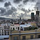 Barcelona Skyline by Paul Thompson Photography