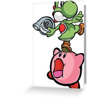 Yoshi and Kirby Greeting Card