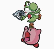 Yoshi and Kirby by TswizzleEG