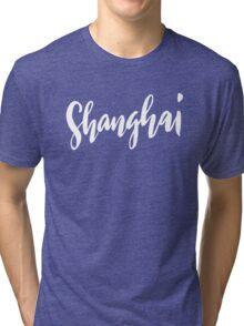 Shanghai Brush Lettering Tri-blend T-Shirt