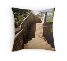 Stairway to the Ocean Throw Pillow