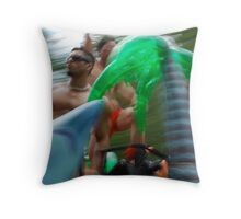 tropic blurr Throw Pillow