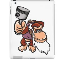Cranky Kong with piston iPad Case/Skin