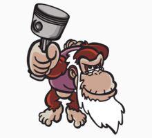 Cranky Kong with piston by TswizzleEG