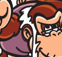 Cranky Kong with piston Sticker