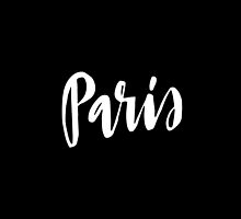 Paris Brush Lettering by squiddyshop