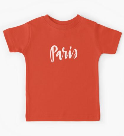 Paris Brush Lettering Kids Tee