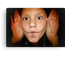 My Child Funny Faces  Canvas Print