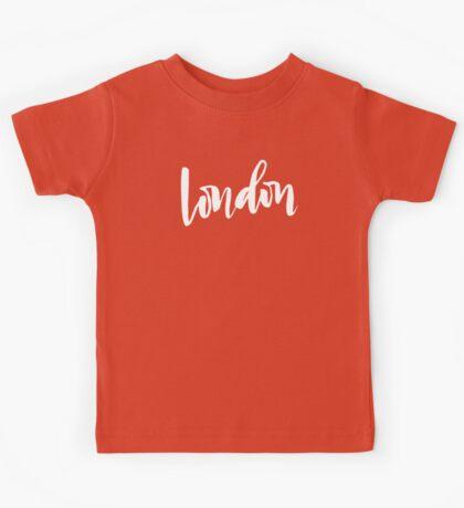London Brush Lettering Kids Tee
