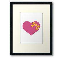 Heart With Ribbon Google Hangouts / Android Emoji Framed Print