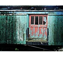 Spruce Caboose Photographic Print