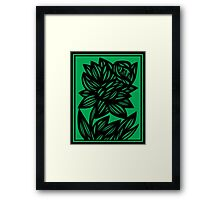 Specchio Daffodil Flowers Green Black Framed Print