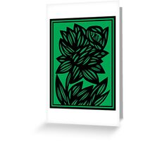 Specchio Daffodil Flowers Green Black Greeting Card