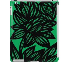 Specchio Daffodil Flowers Green Black iPad Case/Skin