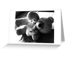 Teddy with Kitty Greeting Card