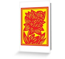 Fingado Daffodil Flowers Yellow Red Greeting Card