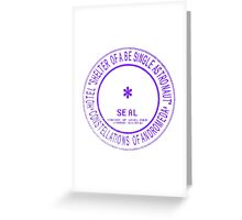 seal of unknown hotel Greeting Card