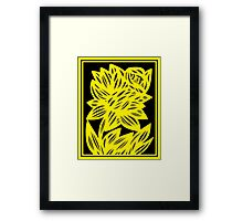 Gertel Daffodil Flowers Yellow Black Framed Print