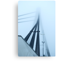 constructions are in fog Canvas Print