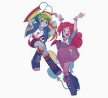 Equestria Dash and Pinkie by rileyav