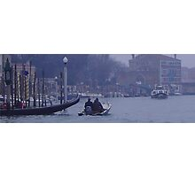 Boaters in Venice, Italy  Photographic Print