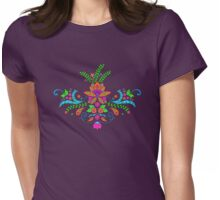India Style Lotus Flower Womens Fitted T-Shirt