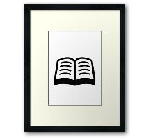 Open Book Google Hangouts / Android Emoji Framed Print