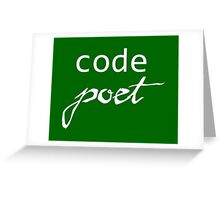 Code Poet Greeting Card