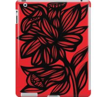 Brien Daffodil Flowers Red Black iPad Case/Skin