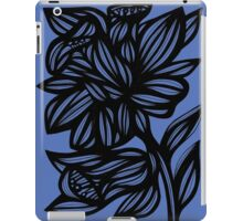 Calder Daffodil Flowers Blue Black iPad Case/Skin