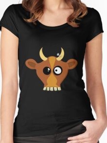 Happy Cow Women's Fitted Scoop T-Shirt