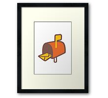 Open Mailbox With Raised Flag Google Hangouts / Android Emoji Framed Print