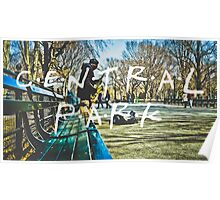 Central Park Typography Print Poster