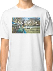 Central Park Typography Print Classic T-Shirt