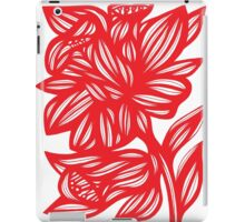 Zerko Daffodil Flowers Red White iPad Case/Skin