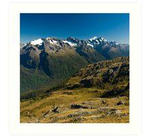scenic view over fiordland Art Print