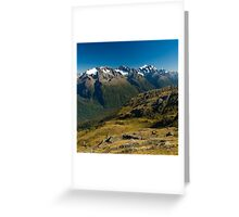 scenic view over fiordland Greeting Card
