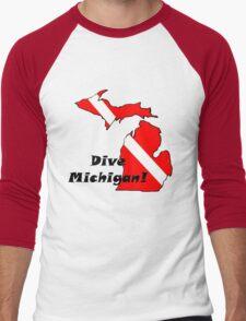 Dive Michigan Men's Baseball ¾ T-Shirt