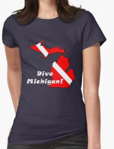 Dive Michigan 2 Womens Fitted T-Shirt