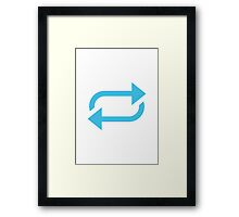 Clockwise Rightwards And Leftwards Open Circle Arrows Google Hangouts / Android Emoji Framed Print