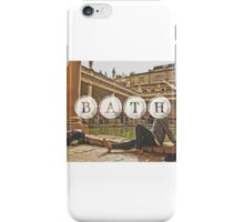 Bath Typography Print iPhone Case/Skin